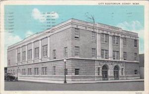 Nebraska Sidney City Auditorium 1933