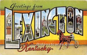 Greetings from Lexington, Kentucky, KY, USA 1958