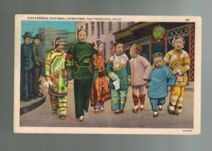 1936 San Francisco USA Chinatown RPPC Postcard cover Picturesque Costumes