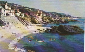 California Laguna Beach Beautiful Homes Along Shoreline
