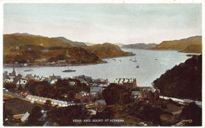 Oban and Sound of Kerrera, Scotland, Early Postcard, Unused