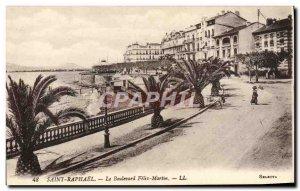 Old Postcard Saint Raphael Boulevard Felix Martin