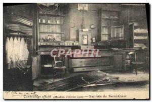 Old Postcard Official Burglary Mills February 1906 Sacristy of the Sacre Coeur