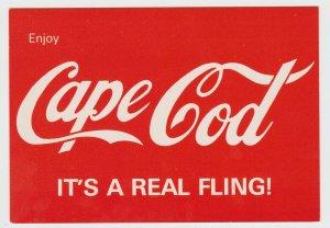 Enjoy Cape Cod It's a Real Fling Massachusetts MA Original Vintage Poscard