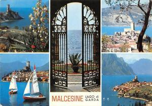 Italy Malcesine Lago di Garda multiviews Entrance Gate Castle Boats