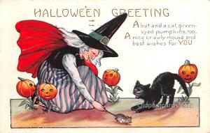 Halloween Post Card Old Vintage Antique Whitney Made Publishing 1924