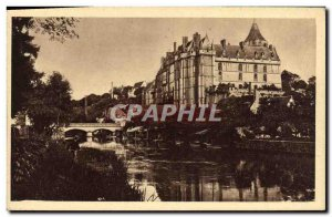 Old Postcard Chateaudun Chateau West Facade