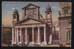 3101108 ITALY GENOVA Plazza e Chiesa della Nunziata Vintage PC