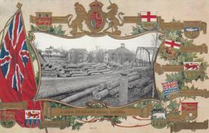 GRAND BEND , Ontario , 1909 ; Logging Yard