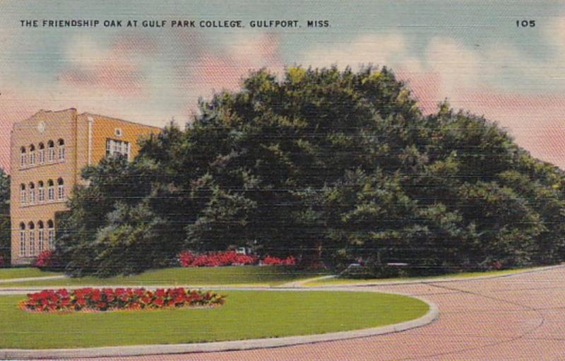 Mississippi Gulfport Friendship Oak At Gulf Park College
