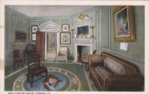 Virginia Mount Vernon The West Parlor