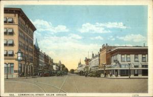 Salem OR Commercial Street c1920s Postcard