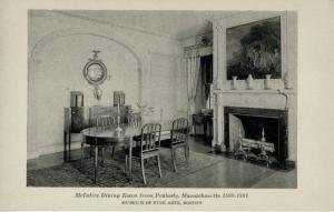 McIntyre Dining Room from Peabody Massachusetts  Museum Fine ArtBoston Postcard