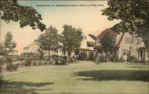 Clinton CT Ridgewood Beach Park Hand Colored Postcard