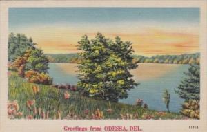 Delaware Greetings From Odessa Landscape Scene