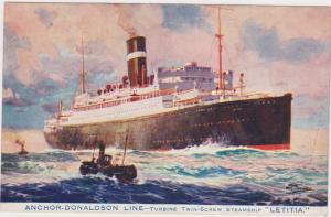 Anchor-Donaldson Line, Turbine Twin-Screw Steamship Letitia, Ocean Liner, 1910