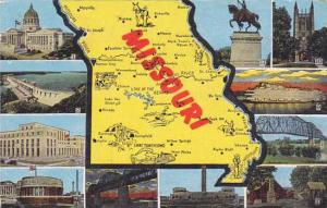Map Of Missouri 1957