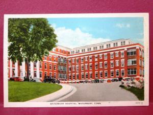 Postcard CT Waterbury - Waterbury Hospital