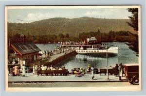 Bowness Bay, UK-United Kingdom, The Teal At Pier, Vintage c1938 Postcard