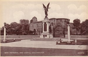 COLCHESTER, Essex, England, 1930-1950s; War Memorial And Castle