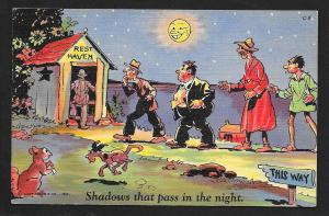 Shadows that Pass in the Night Toilet Humor unused c1940