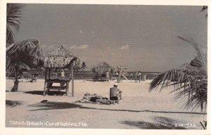 Coral Gables Florida Tahiti Beach People Real Photo Postcard AA12308