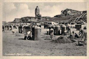 RPPC Zandvoort Aan Het Strand Beach Town Netherlands Holland Unused Postcard