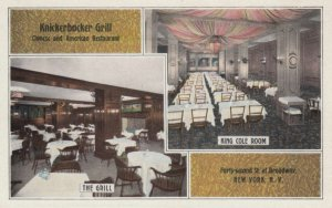 NEW YORK CITY, 1910-20s; Knickerbocker Grill, Chinese and American Restaurant...