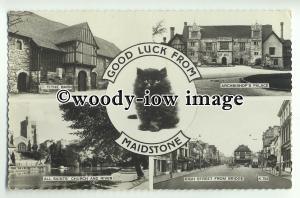 tp8856 - Kent - Multiview x 4 & Kitten, of Various Views in Maidstone - postcard