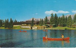 Jasper Park Lodge, Lake Beauvert, Canoeing, JASPER, Alberta, Canada, PU-1963