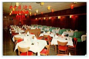 PIKESVILLE, Maryland MD ~ Interior PAGODA INN Oriental Restaurant 1960s Postcard