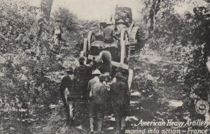 American Heavy Artillery moving into action , WWI
