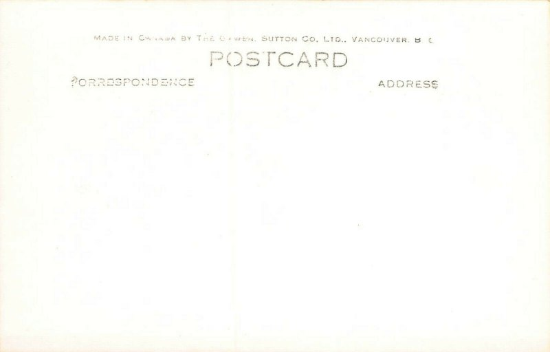 C.P.R. Transcanada Ltd, Near Field, B.C., Canada, Real Photo Postcard, Unused