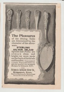 Holmes & Edwards Silver Co, Inlaid Silverware 1896 Print Ad