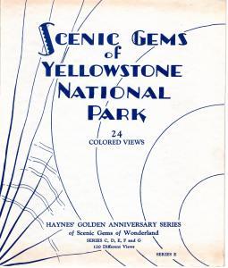 YELLOWSTONE NATIONAL PARK,  SCENIC GEMS , SERIES E.