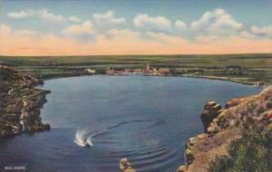 New Mexico Roswell Leal Lake Bottomless Lakes State Park Curteich