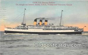 CPR SS Princess Kathleen Vancouver, Canada Ship Postcard Post Card Vancouver,...