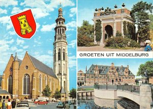 B109086 Groeten uit Middelburg Church ,Eglise Bridge Castle Chateau Arch