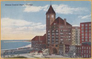 Chicago, Ill., Illinois Central Railroad Depot  -
