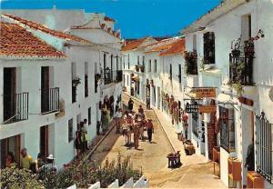 Spain Costa del Sol Mijas, Calle Tipica Typical Street Shops Promenade