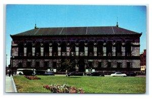 Postcard Public Library, Copley Square, Boston Mass chrome MA1