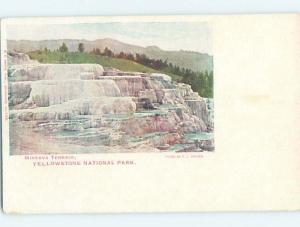 Pre-1907 MINERVA TERRACE Yellowstone National Park Wyoming WY H4137