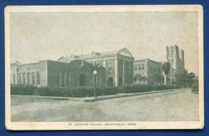 Brownsville Texas St Joseph's College old postcard