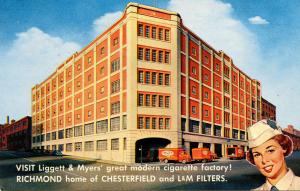 Tobacciana - Liggett & Myers Cigarette Factory (Chesterfield, L&M). Richmond, VA