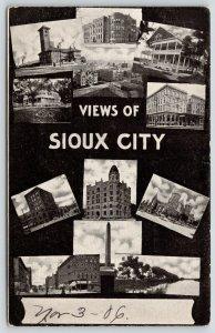 Sioux City Iowa~12 Multi Mini Views~Main Street~Hotel~Monument~Black Back~1906