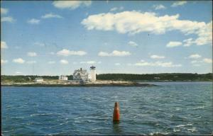 Southport ME Hendricks Head Lighthouse c1950s Postcard