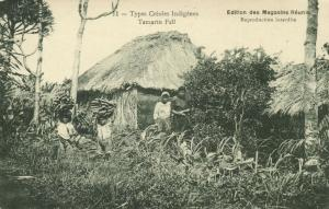 mauritius, Tamarin Fall, Native Types Creoles, Bananas (1910s)