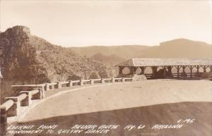 Arizona Lookout Point Belker Butte Monument To Gustav Baker Real Photo
