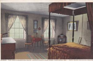 Detroit Pub. Co.: Poet's Sleeping Room, Longfellow's Old Home, Portland, Main...