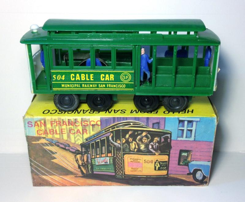 Vintage SAN FRANCISCO CABLE CAR Toy 1970s Trolley RINGING BELL Smith News Co 504
